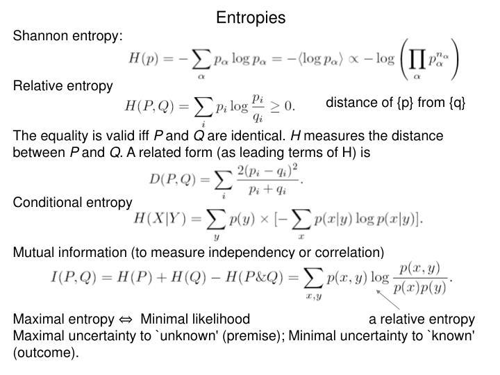 Entropies