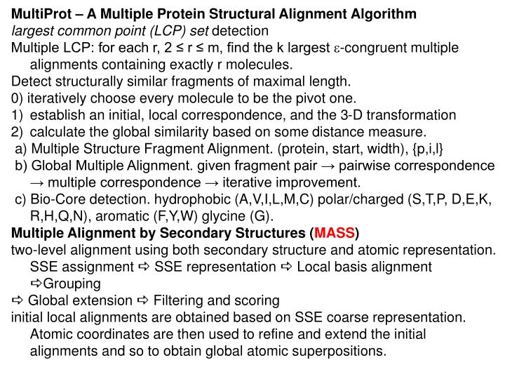 MultiProt – A Multiple Protein Structural Alignment Algorithm