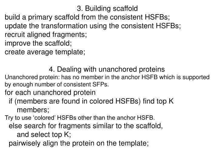 3. Building scaffold