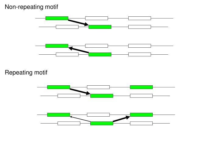 Non-repeating motif