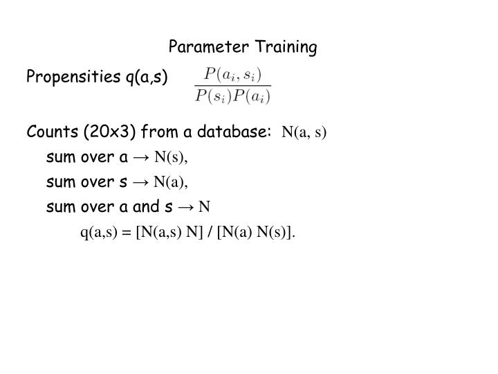 Parameter Training