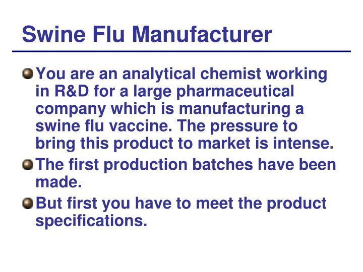 Swine Flu Manufacturer