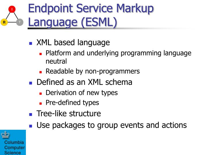 Endpoint Service Markup Language (ESML)