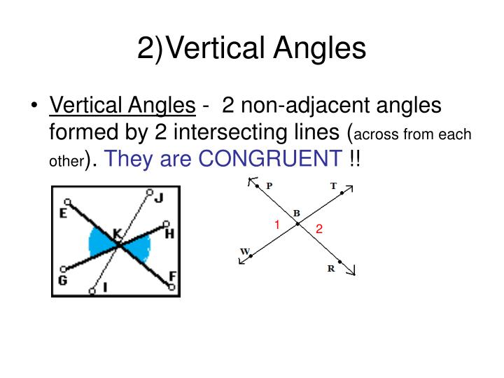 2)Vertical Angles