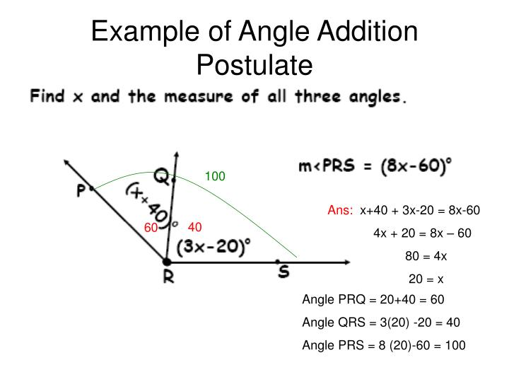 Example of Angle Addition Postulate