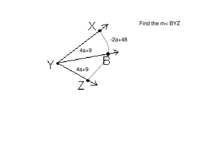 Find the m< BYZ