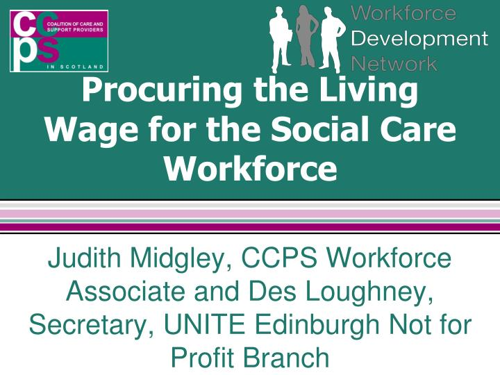 procuring the living wage for the social care workforce n.
