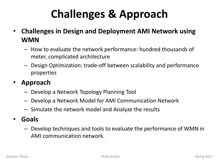 Challenges & Approach