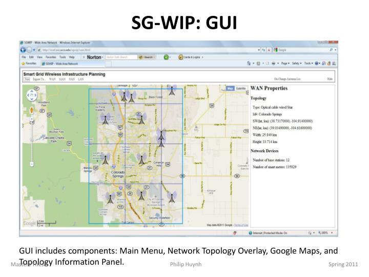 SG-WIP: GUI