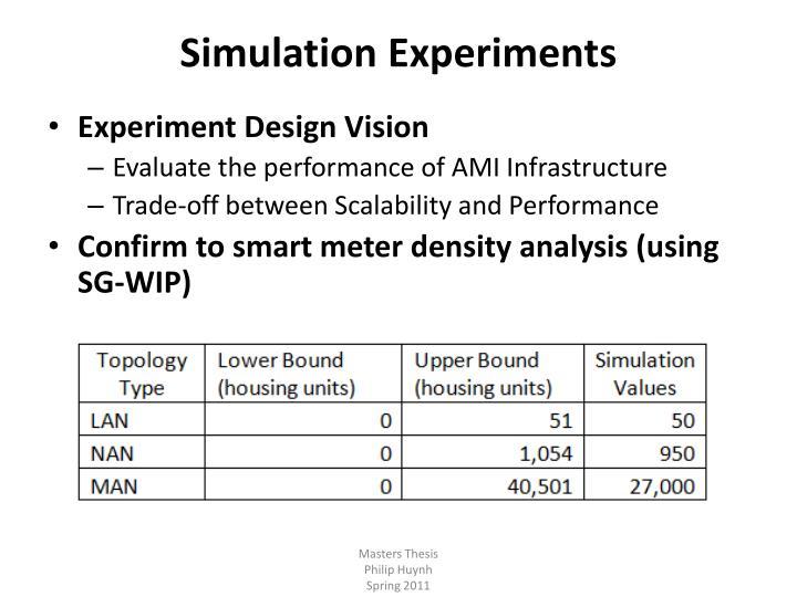 Simulation Experiments