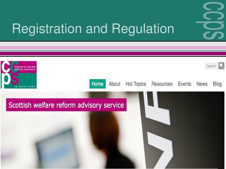 Registration and Regulation