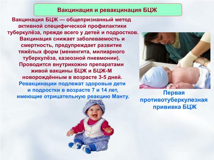 Вакцинация и ревакцинация БЦЖ