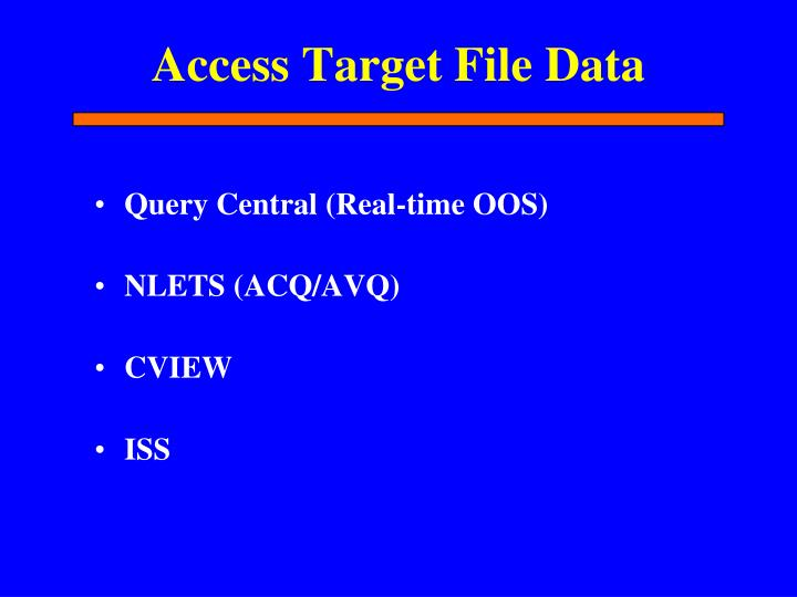 Access Target File Data