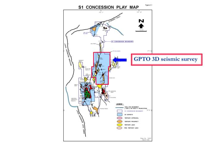 GPTO 3D seismic survey