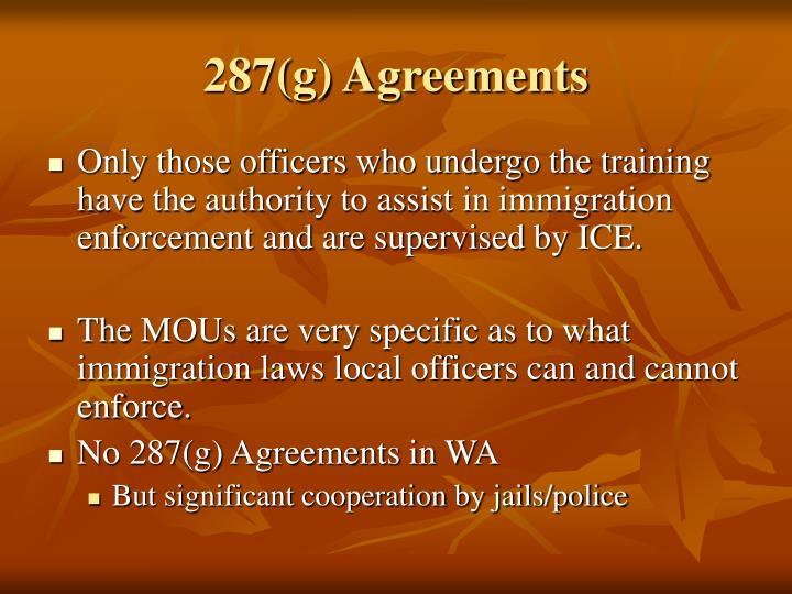 287(g) Agreements