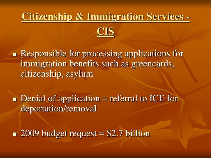 Citizenship & Immigration Services - CIS