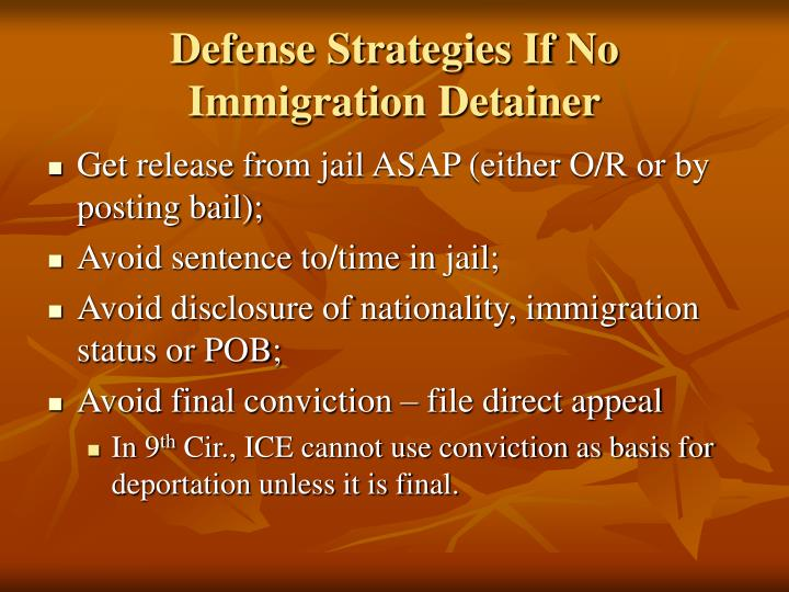 Defense Strategies If No Immigration Detainer