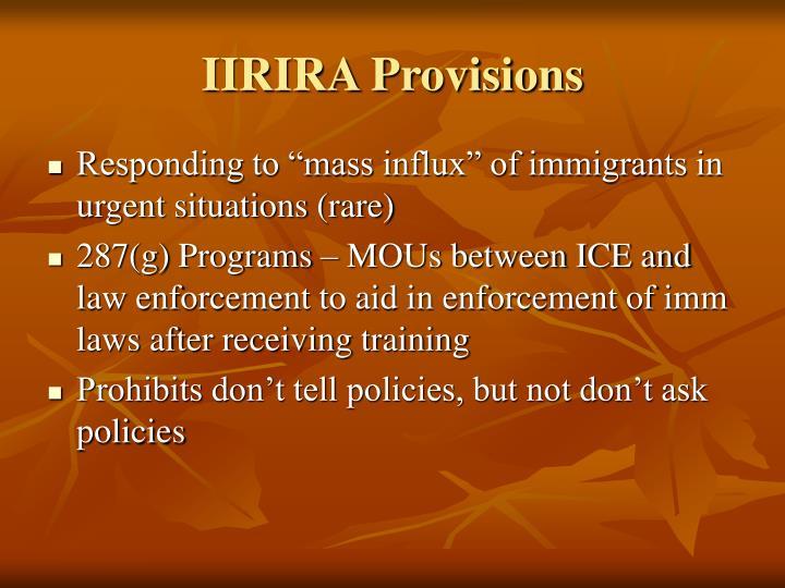IIRIRA Provisions