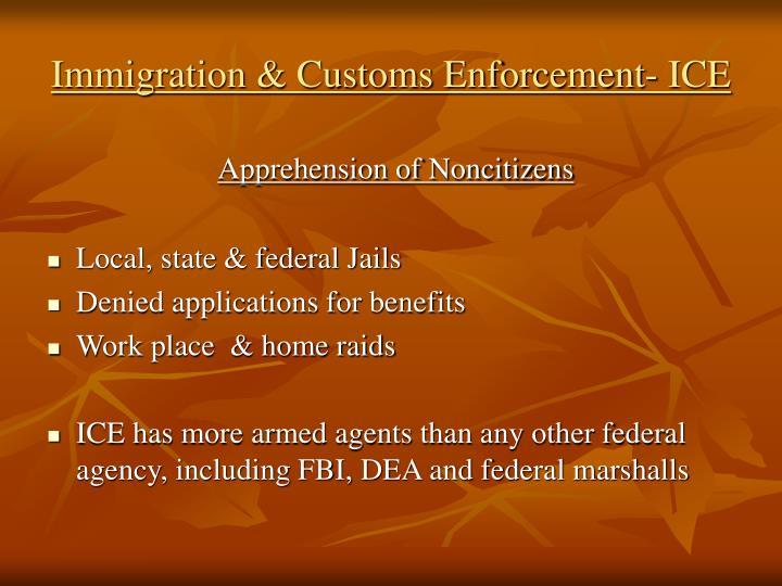 Immigration & Customs Enforcement- ICE