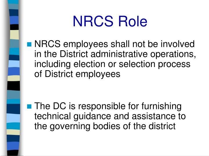 NRCS Role