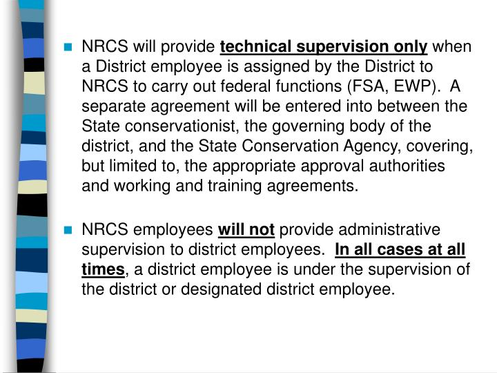 NRCS will provide