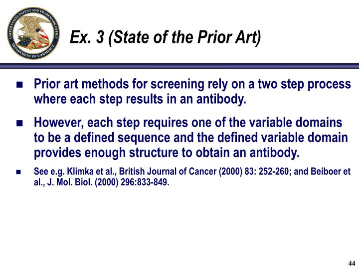 Ex. 3 (State of the Prior Art)