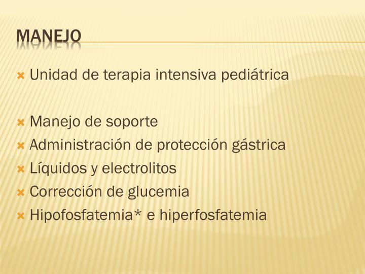 Unidad de terapia intensiva pediátrica