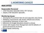 3 monitoring capacity
