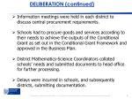 deliberation continued1