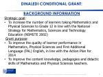 dinaledi conditional grant background information