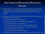 the national watershed boundary dataset