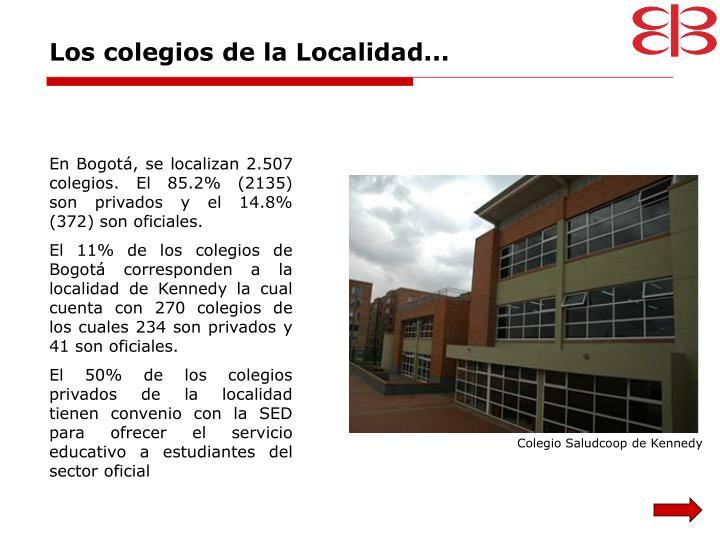 Los colegios de la Localidad...