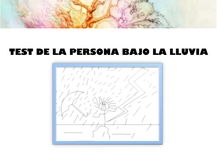 TEST DE LA PERSONA BAJO LA LLUVIA