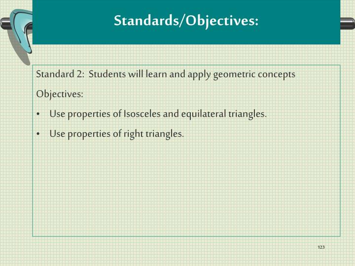 Standards/Objectives: