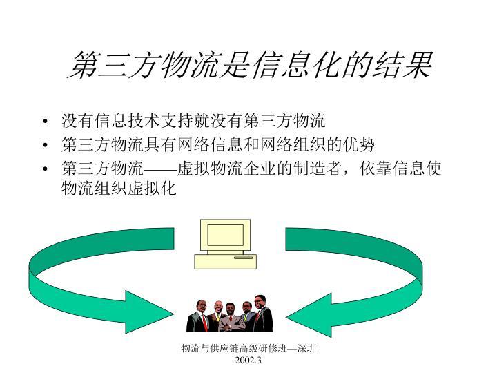 第三方物流是信息化的结果
