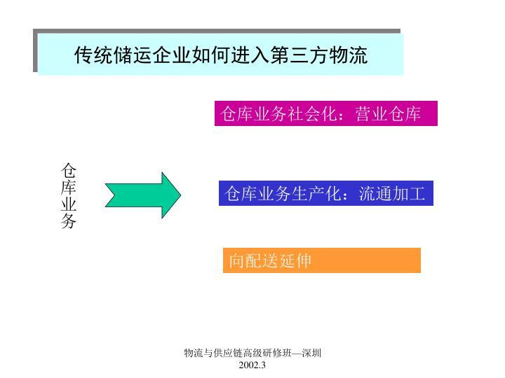 传统储运企业如何进入第三方物流