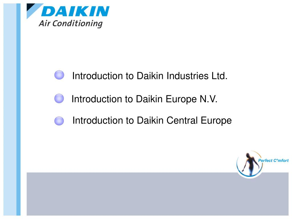 PPT - Introduction to Daikin Industries Ltd. PowerPoint Presentation -  ID:6608709