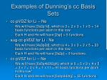 examples of dunning s cc basis sets