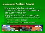 community colleges cont d