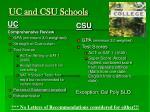 uc and csu schools