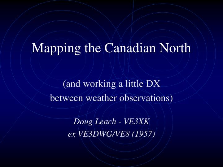 mapping the canadian north n.
