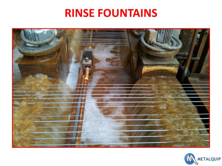 RINSE FOUNTAINS