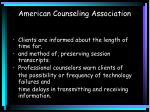 american counseling association2