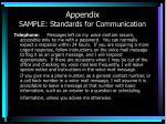 appendix sample standards for communication1