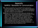 appendix sample standards for communication2
