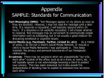 appendix sample standards for communication3