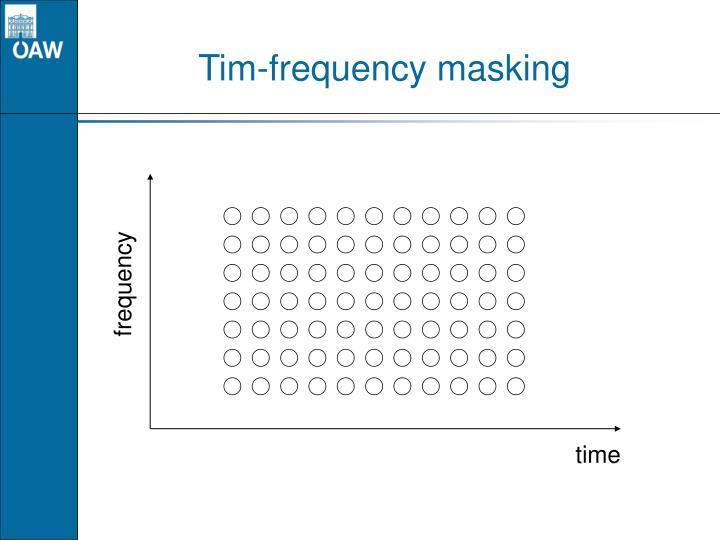 Tim frequency masking