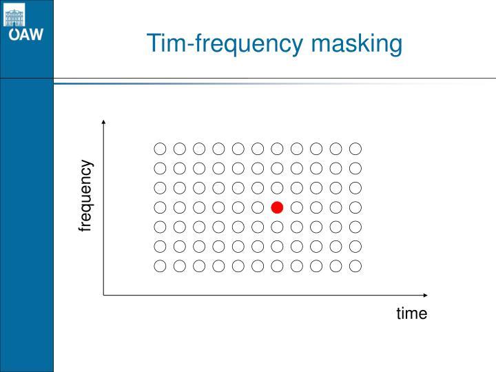 Tim-frequency masking