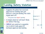 landing safety violation