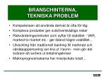branschinterna tekniska problem